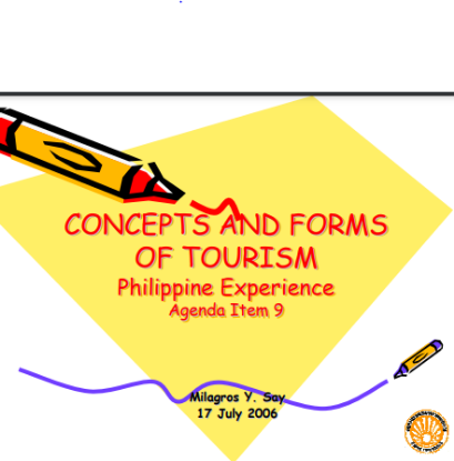 Picture of CONCEPTS AND FORMS OF TOURISM