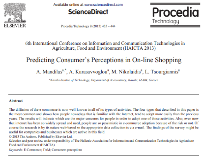 Picture of Predicting Consumer's Perceptions in On-line Shopping