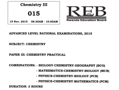 Picture of Chemistry Practical 2015 - BCG, MCB, PCB