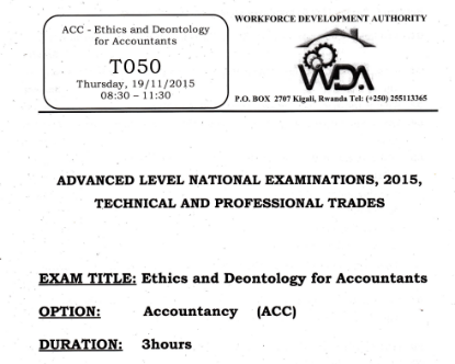Picture of ACC-ETHICS AND DEONTOLOGY FOR ACCOUNTANTS 2015