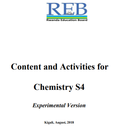 Picture of Content and Activities for Chemistry S4 Experimental Version