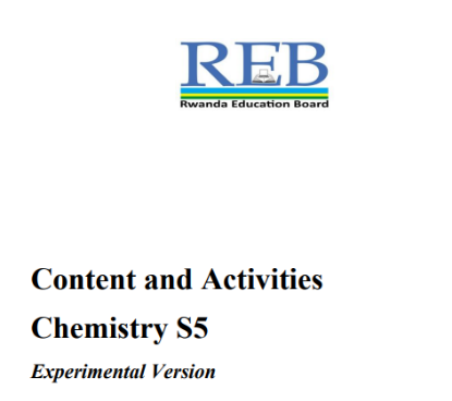 Picture of Content and Activities Chemistry S5 Experimental Version