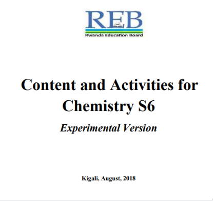 Picture of Content and Activities for Chemistry S6 Experimental Version