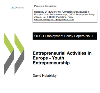 Picture of Entrepreneurial Activities in Europe - Youth Entrepreneurship