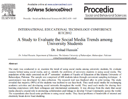 Picture of A Study to Evaluate the Social Media Trends among University Students