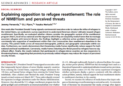 Picture of Explaining opposition to refugee resettlement