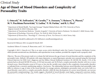 Picture of Age of Onset of Mood Disorders and Complexity of Personality Traits