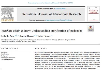 Picture of Teaching within a Story: Understanding storification of pedagogy