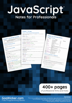 Picture of JavaScript® Notes for Professionals
