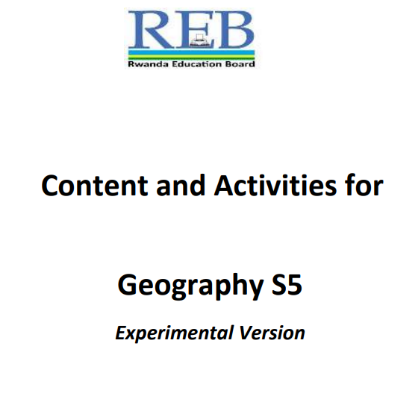 Picture of Content and Activities for Geography S5 Experimental Version