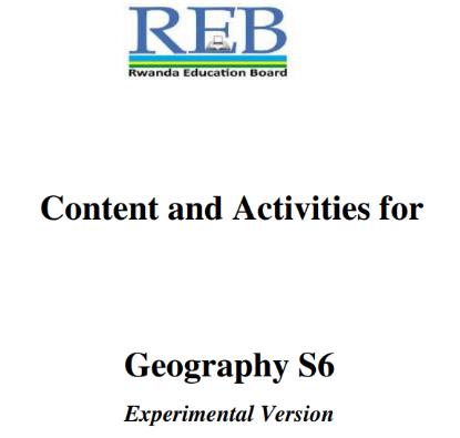Picture of Content and Activities for Geography S6
