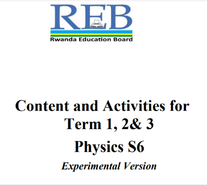 Picture of Content and Activities for Term 1, 2& 3 Physics S6 Experimental Version